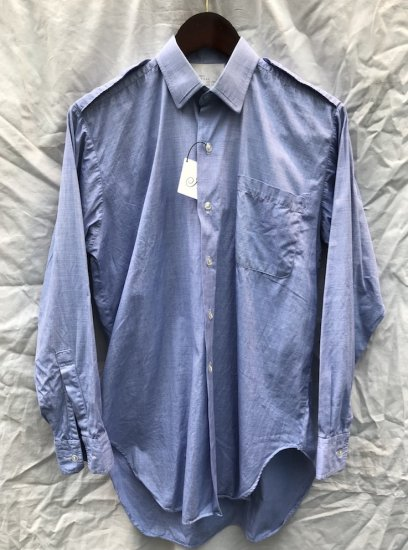 60's ~ Vintage RAF (Royal Ari Force) Officer Shirts Sax (Blue Grey)