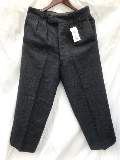 50's ~ Vintage RAF (Royal Air Force) Wool Trousers Blue Grey