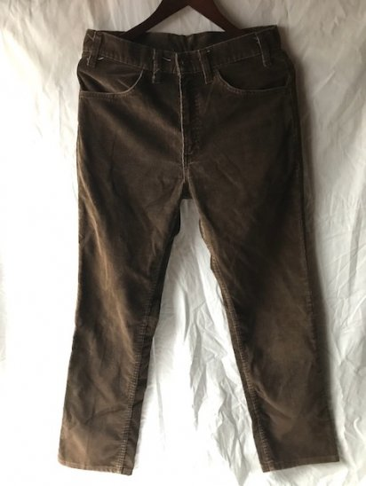 70's Vintage LEVI'S 519 Corduroy MADE IN USA Brown / 3