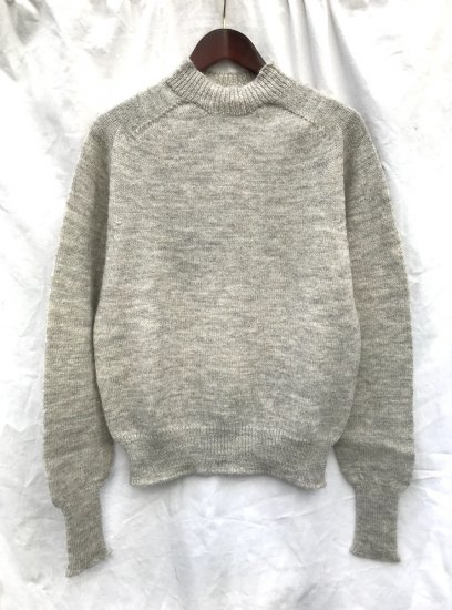 ESK ANGUS Mock Neck MADE IN SCOTLAND Grey