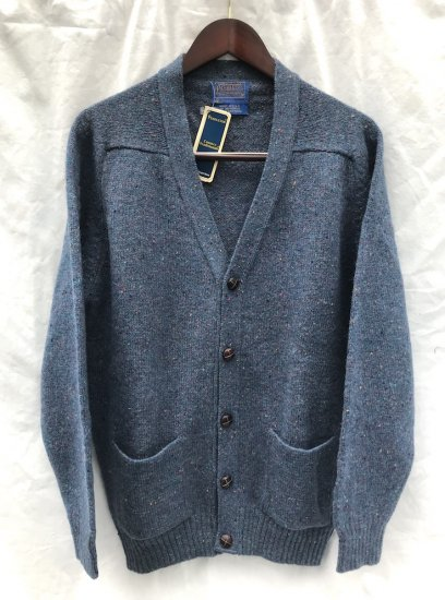 60's Vintage Dead Stock Pendleton Cardigan MADE IN U.S.A Blue