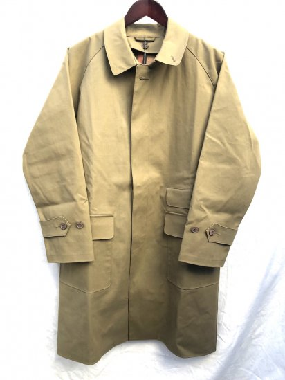Mackintosh by Francis Campelli made in Ireland 1 Panel Sleeve Chester Type Single Mac Coat Olive