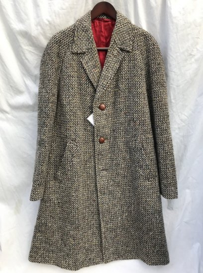 Vintage Tweed Coat Tailor Made in England Gray