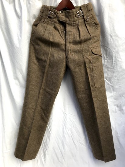 60's Vintage Dead Stock British Army 1949 Pattern Battle Dress Trousers Brown / 1