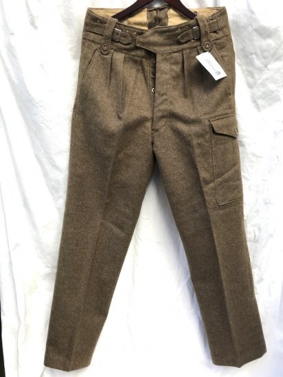60's Vintage British Army 1949 Pattern Battle Dress Trousers Brown / 3