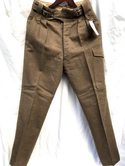 60's Vintage British Army 1949 Pattern Battle Dress Trousers Brown / 2