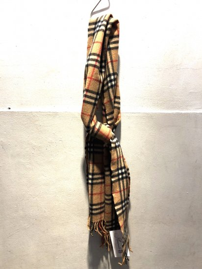 Vintage Burberrys' Cashmere Muffler MADE IN ENGLAND / 1