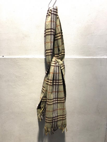 Vintage Burberrys' Cashmere Muffler MADE IN ENGLAND / 6