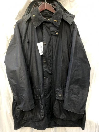 80's Vintage Dead Stock Barbour Border Jacket Made in England With Hood Navy