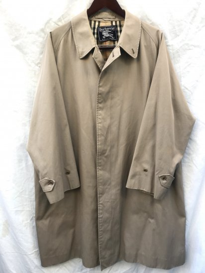 60's ~ 70's Vintage Burberrys' 1 Piece Sleeve Balmacaan Coat Made in England
