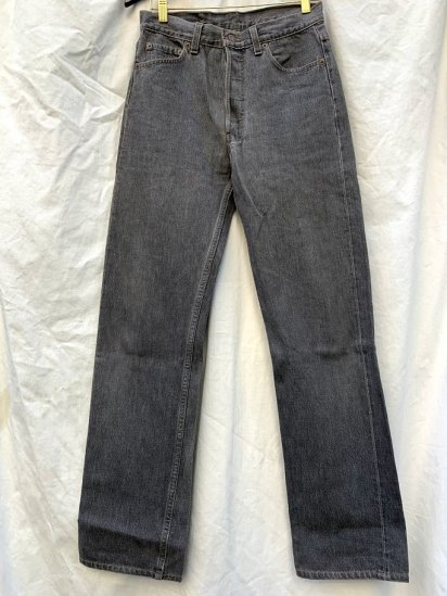 90s∼ Old LEVIS 501 Black Denim Pants Made In USA