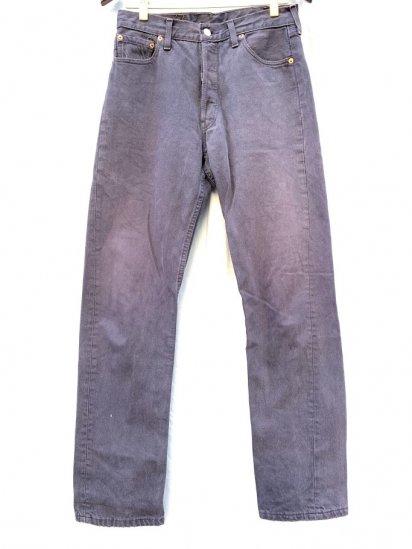 90s LEVIS 501 Black Denim Pants Made In UK