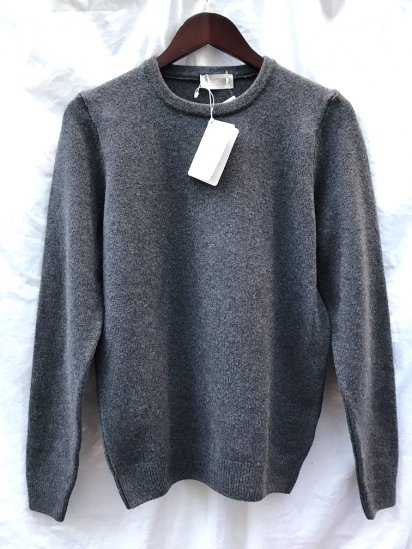 John Smedley Merino Wool x Cashmere Knit PULLOVER Made in England Charcoal