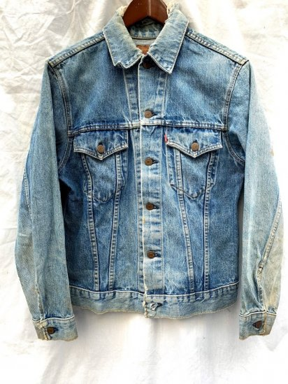 80s Vintage LEVIS 70505 Small-e Worn Denim Jacket