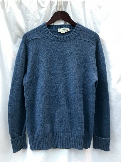 80's Vintage L.L. BEAN Crew Neck Knit MADE IN IRELAND Green Blue