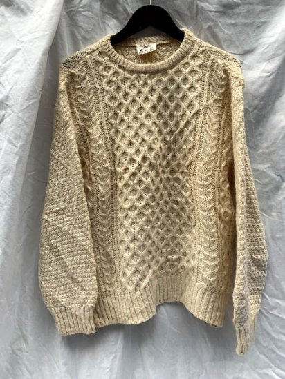 Vintage Alan Knit Crew Neck Sweater Made In England White / 3
