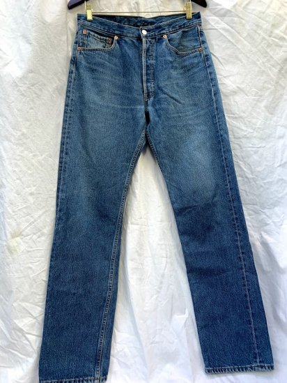 90s Old LEVIS 501 Denim Pants Made In Poland