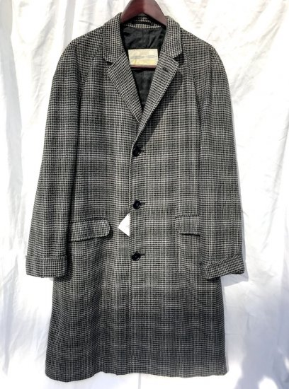 50's Vintage Aquascutum Chester Coat MADE IN ENGLAND Good Condition Grey x Green Haundst