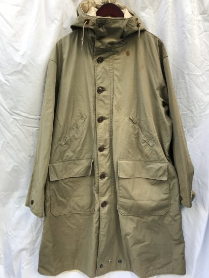 40's Vintage US Army Moutain Troop Reversible Parka Olive × White