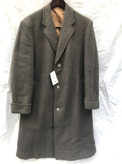 60's Vintage Wool Chester Coat Coat MADE IN ENGLAND Olive
