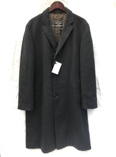 60's Vintage Hudson's Bay Company Wool Chester Coat Coat MADE IN ENGLAND Chacoal