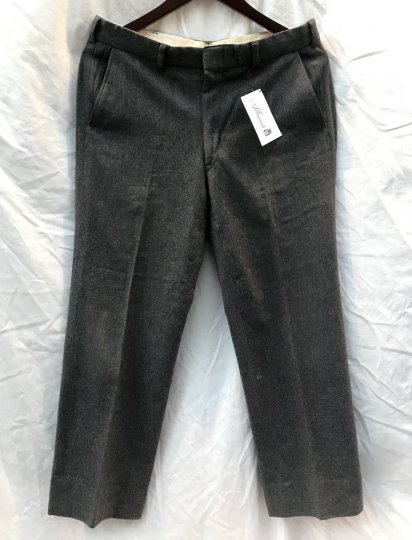 70's Vintage J.PRESS Wool Trousers Charcoal / 4