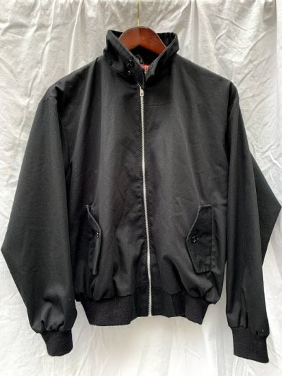 80's ~ 90's Vintage Harrington Jacket Made In England Black / 1