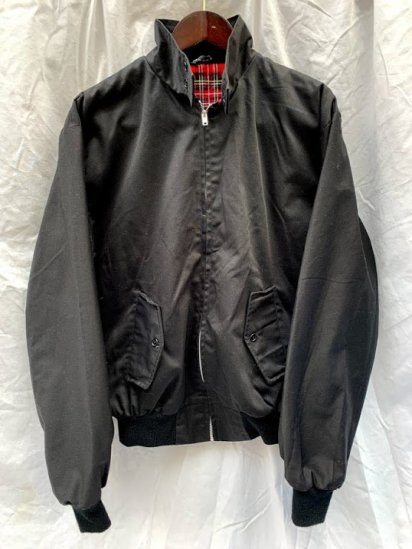 80's ~ 90's Vintage Harrington Jacket Made In England Black / 4