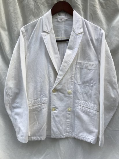 50's Vintage French Work Jacket Good Condition White / 4
