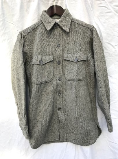 70's ~ WOOLRICH CPO Shirts Jacket Light Grey / 2