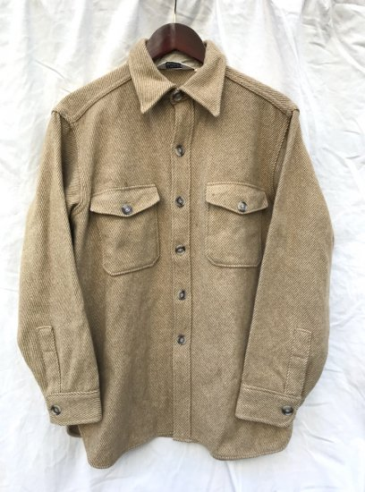 70's ~ WOOLRICH CPO Shirts Jacket Beige