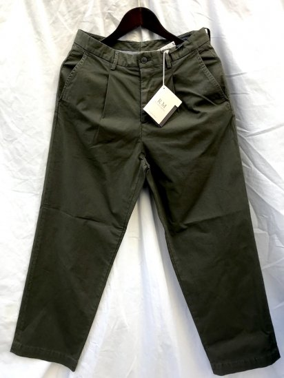 RICCARDO METHA 1tac Rip Stop Trousers MADE IN ITALY Olive