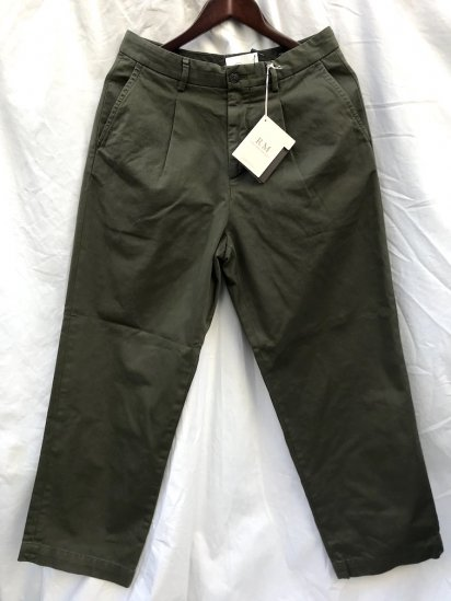 RICCARDO METHA 1tac Cotton Twill Trousers MADE IN ITALY Olive