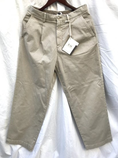RICCARDO METHA 1tac Cotton Twill Trousers MADE IN ITALY Khaki