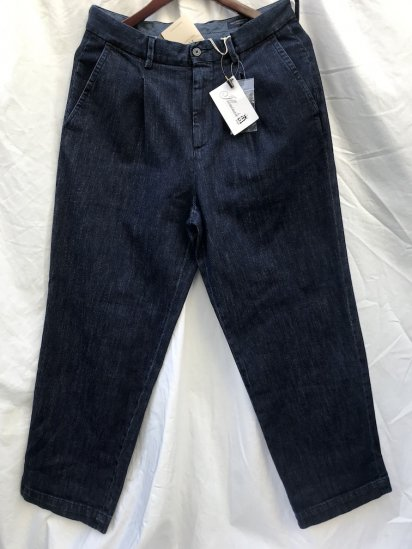 RICCARDO METHA 1Tac Denim Trousers MADE IN ITALY Indigo<BR>SALE!! 18,000 → 15,800 + tax