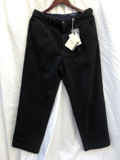 RICCARDO METHA 1Tac Denim Trousers MADE IN ITALY Black Denim<BR>SALE!! 18,000 → 15,800 + tax