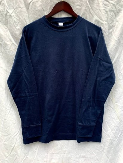 Gicipi Long Sleeve Mock Neck Tee Shirts Made In Italy Navy