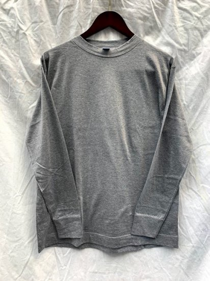 Gicipi Long Sleeve Mock Neck Tee Shirts Made In Italy Grey