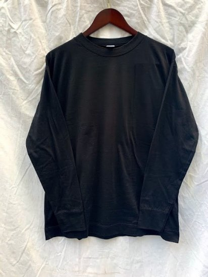 Gicipi Long Sleeve Mock Neck Tee Shirts Made In Italy Black