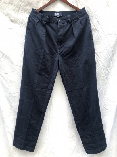 90's ~ 00's OLD Polo Ralph Lauren Chino Pants Navy / 1