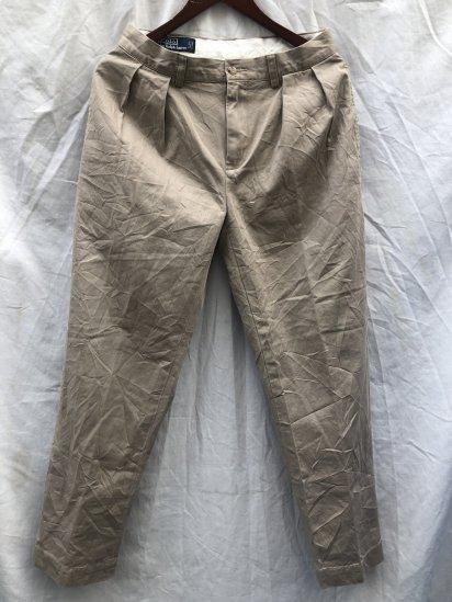 90's ~ 00's OLD Polo Ralph Lauren Chino Pants Ecru / 8