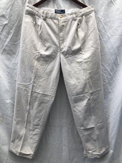 90's ~ 00's OLD Polo Ralph Lauren Chino Pants Ecru / 10