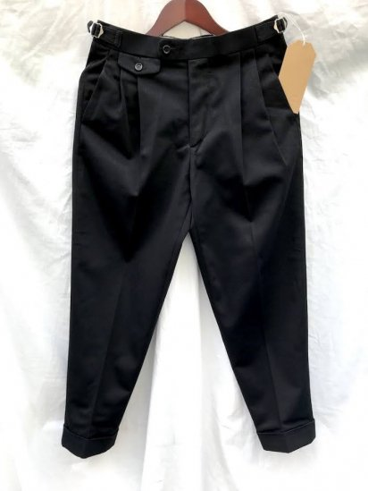 Richfield Made in Japan Superior Pima Cotton Chino 2 TUCK TAPERD TROUSERS C-3 Black