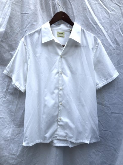 "De Bonne Facture ""Vintage Japan Cotton"" Short Sleeve Shirts White"