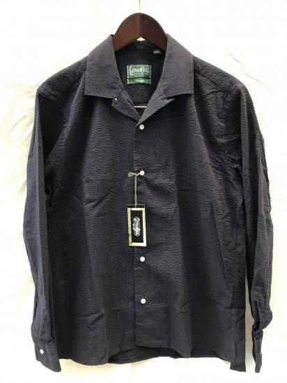 Gitman Vintage Seersucker Camp Collar Shirts Made in USA Navy SALE!! 22,000 → 17,600 + Tax