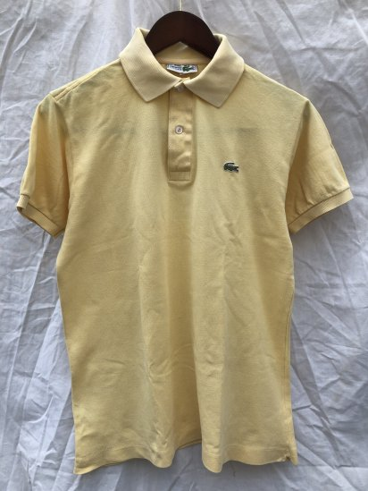 70's ~ 80's Vintage Lacoste Polo Shirts Made in France / 44