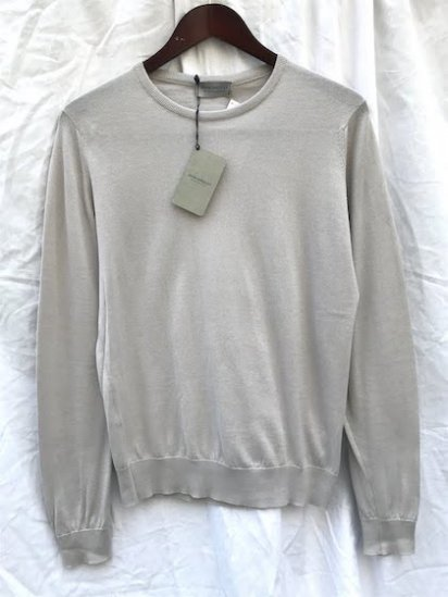 John Smedley Sea Island Cotton Sweater PONZA PULLOVER Made in England Brunel Beige