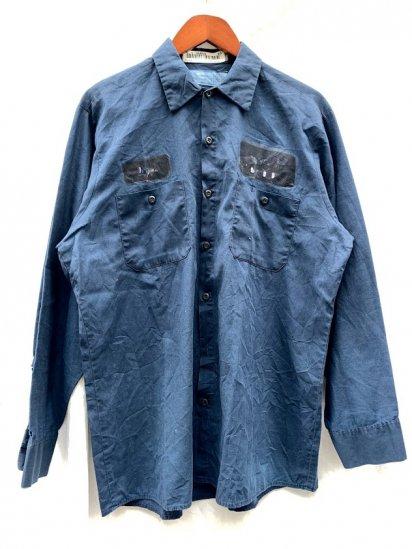 80s∼ Old Work Shirts Indigo Over Dyed