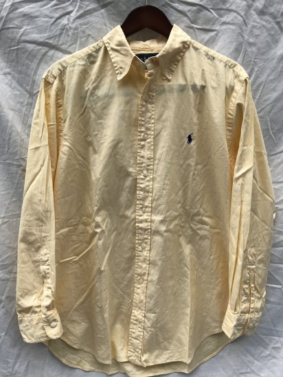 90-00's USED Ralph Lauren L/S OX BD Shirts / 1