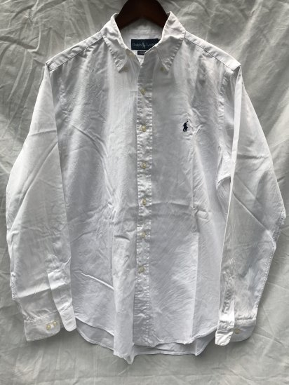 90-00's USED Ralph Lauren L/S OX BD Shirts / 2